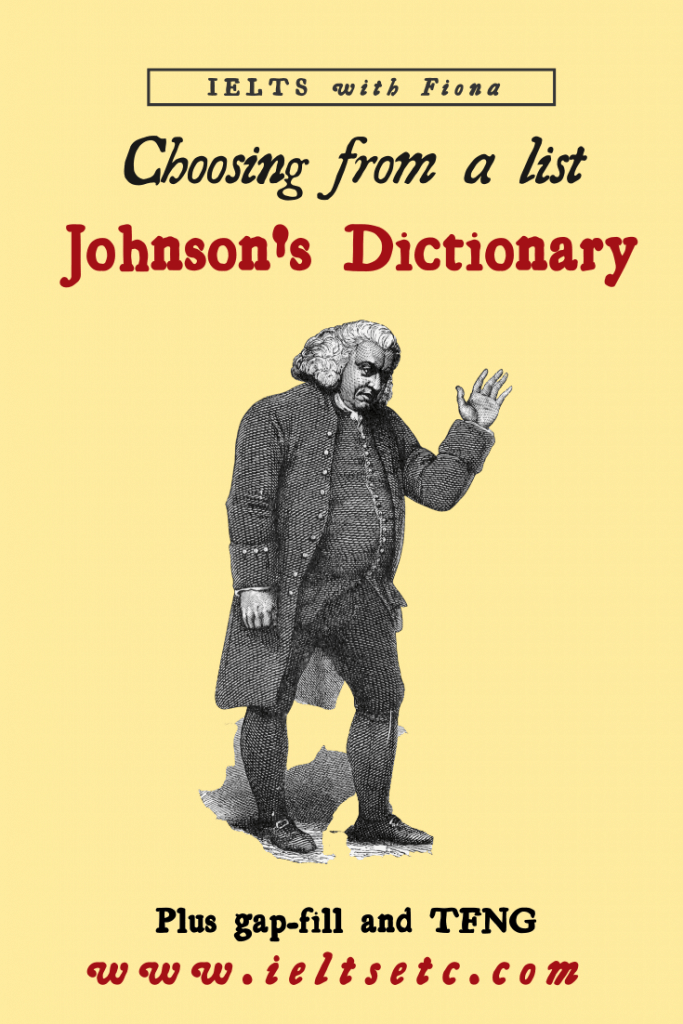 IELTS Reading about Johnson's Dictionary