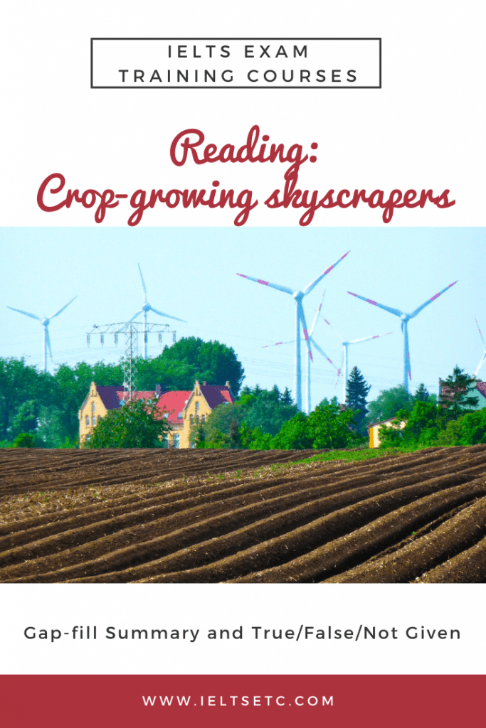 IELTS Reading crop-growing skyscrapers