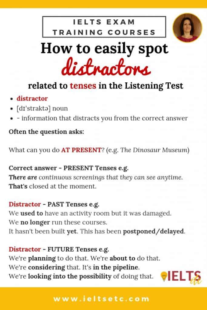 IELTS Listening - how to spot distractors