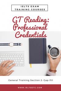 IELTS General Training Professional Credentials