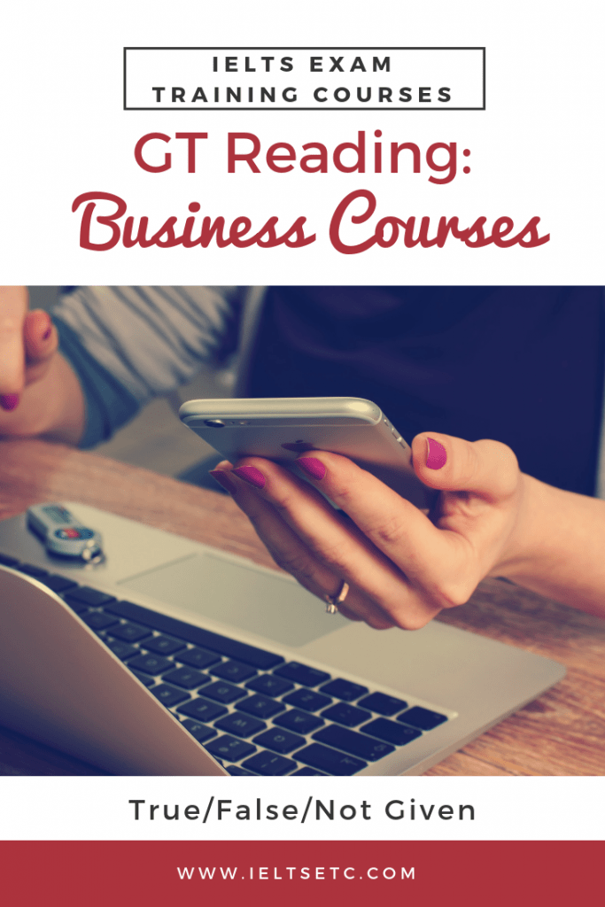IELTS GT Reading Business Courses