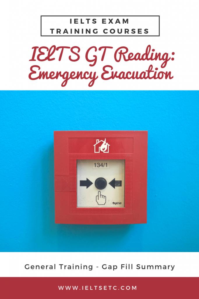 IELTS General Training Reading Test Emergency evacuation