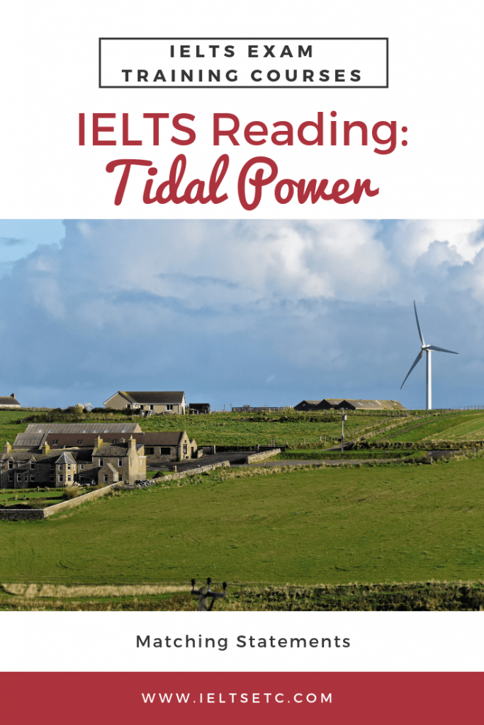 IELTS Reading Tidal Power