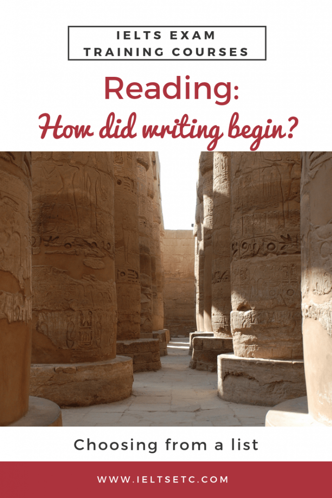 IELTS Reading How did writing begin