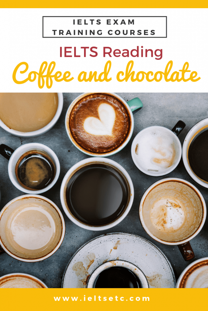 IELTS Reading: Coffee and chocolate