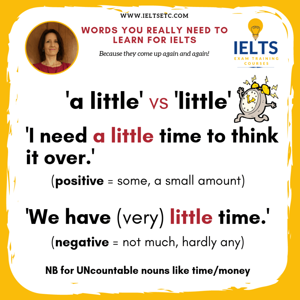 IELTS Grammar: a little vs little