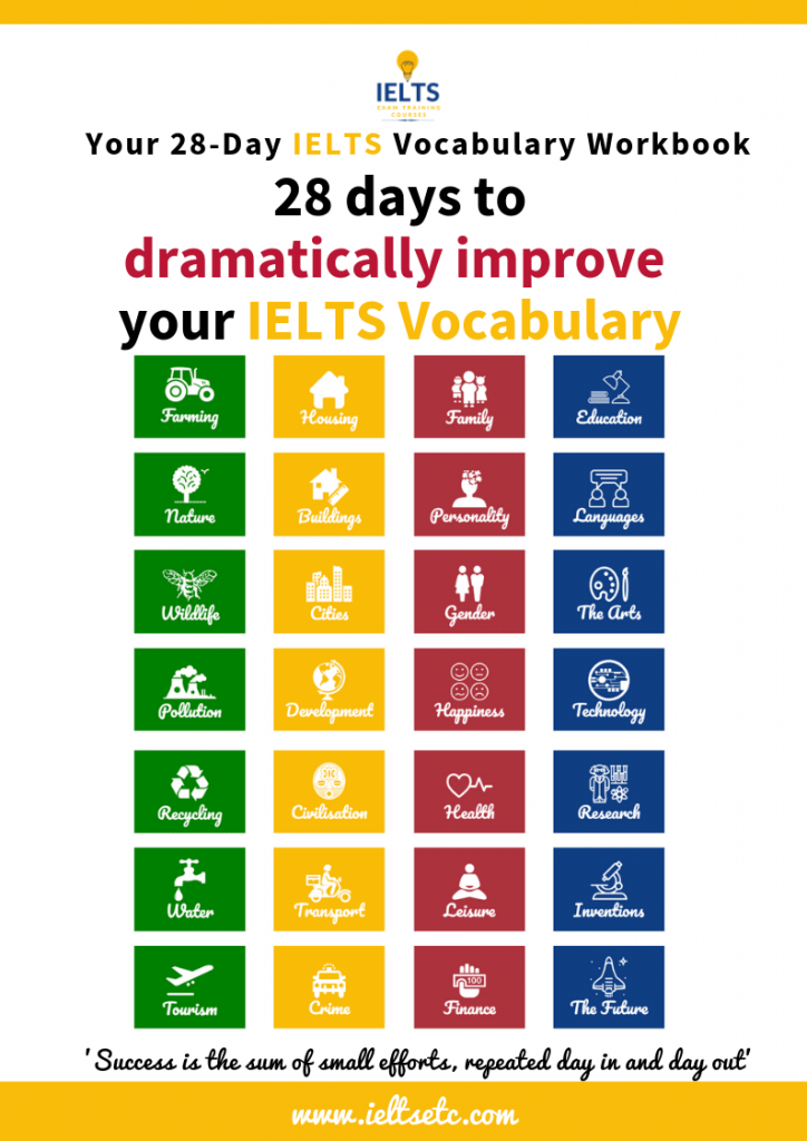 IELTS Vocabulary Course - get all the vocabulary you need in 28 days
