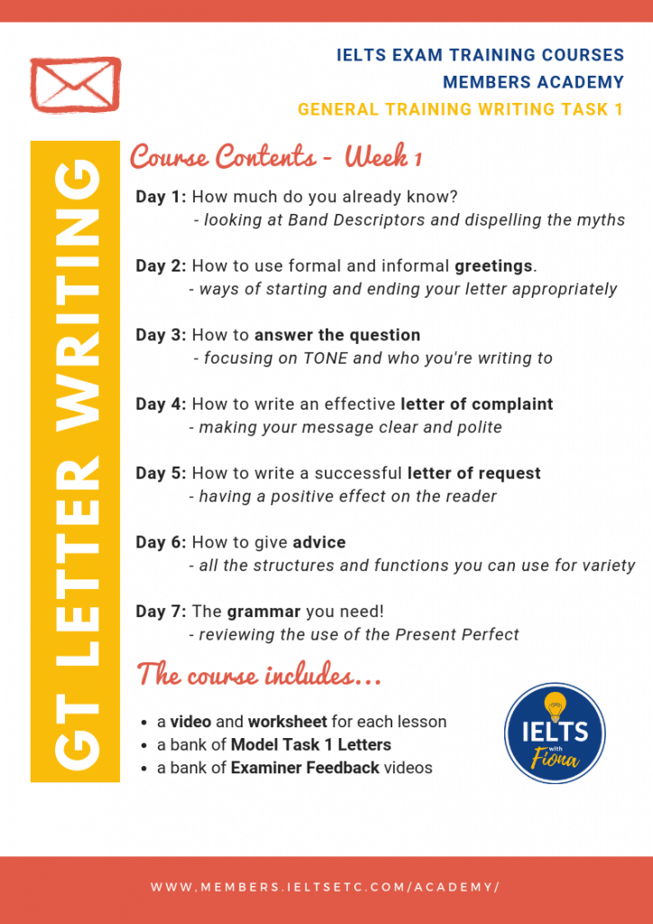 GT Letter writing syllabus