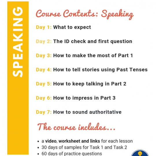 IELTS Speaking Course syllabus