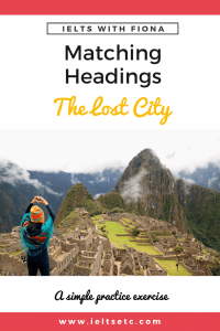 IELTS Reading The Lost City