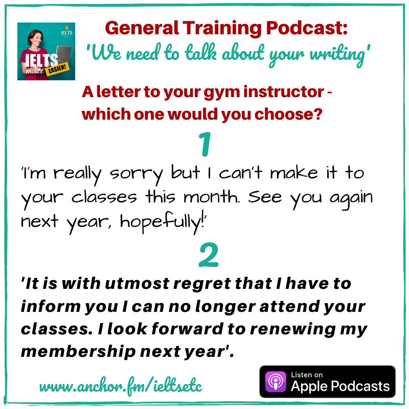 General Training IELTS Task 1 Informal Letter