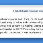 IELTS with Fiona reviews Marina