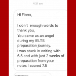 IELTS with Fiona reviews Sancia