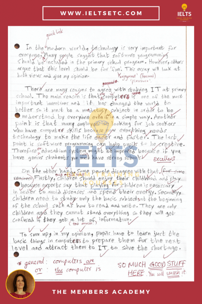 IELTS Writing Feedback and Correction