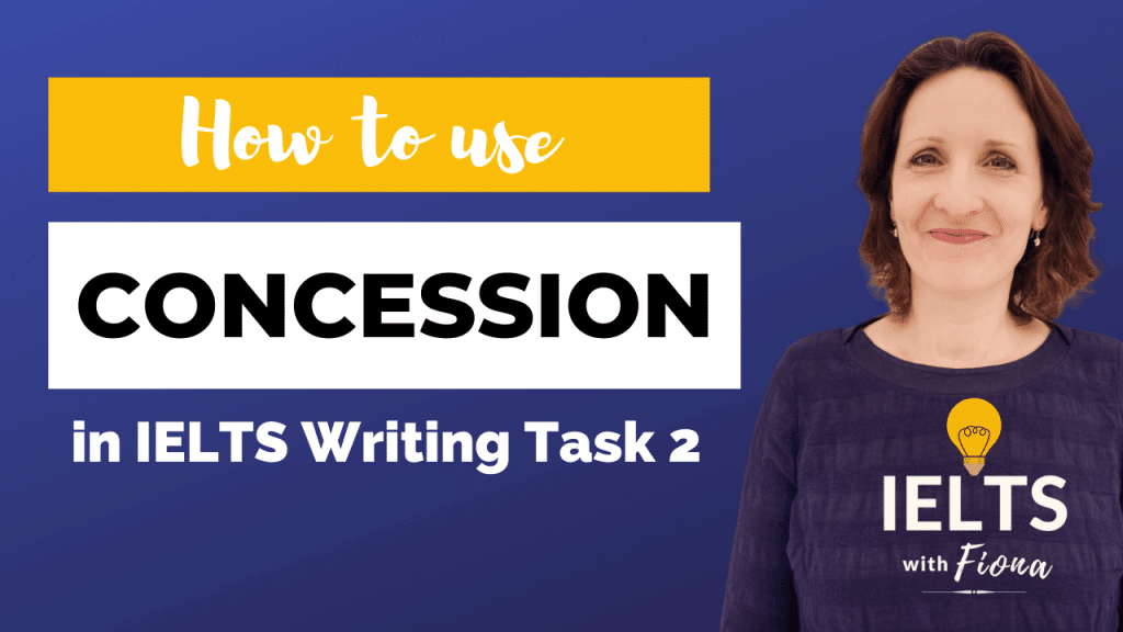 IELTS Writing how to show concession